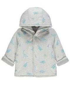 Двостороння трикотажна куртка с синтепоновим наповнювачем для малюка