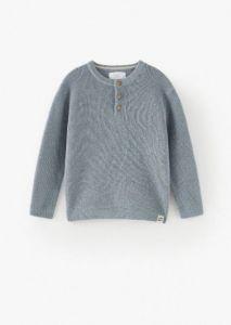 Трикотажний светр вафельної в'язки для хлопчика