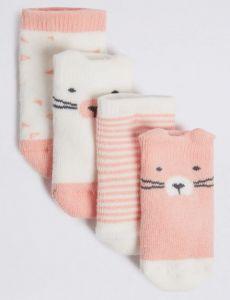 Набір шкарпеток з махровою ниткою всередині (4 пари)
