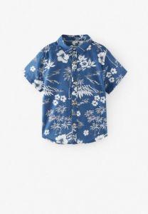 Сорочка з тропічним принтом для хлопчика