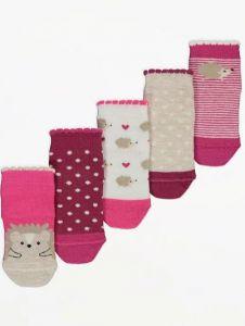 Набір шкарпеток для дівчинки (5 пар) від George