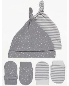 Комплект шапочок та антицарапок для малюка