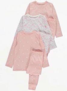 Трикотажна піжама для дівчинки 1шт. (зірочки)
