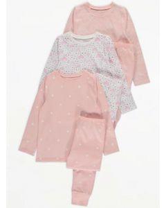 Трикотажна піжама для дівчинки 1шт. (персикова з принтом)