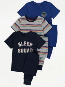 Трикотажна піжама для хлопчика 1шт. (темно-синя з принтом )