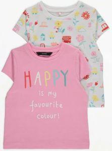 Набір футболок 2 шт. для дівчинки