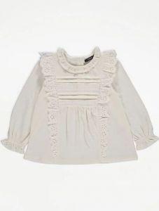 Блуза з мереживом для дівчинки від George