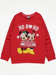 """Святковий світшот з флісовою байкою всередині """"Mickey and Minnie Mouse"""""""