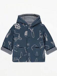 Двостороння трикотажна куртка з синтепоновим наповнювачем для малюка