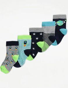 Набір шкарпеток (5 пар) для хлопчика