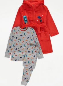 Комплект для хлопчика (плюшевий халат та піжама)