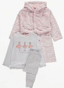 Комплект для дівчинки (плюшевий халат та піжама)