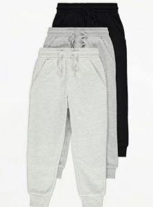 Спортивні штанята з флісовою байкою всередині 1шт. (чорні)