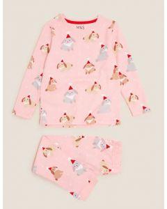 Подарункова трикотажна піжама для дівчинки