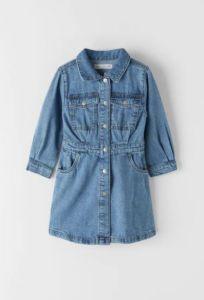 Джинсове плаття-сорочка для дівчинки