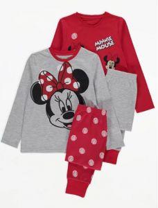 """Піжама для дiвчинки 1шт. """"Minnie Mouse"""" (червоний реглан і штани в горох)"""