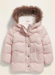 Тепла куртка на плюші для дівчинки