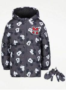 """Куртка с флисовой подкладкой и силиконовым наполнителем """"Mickey Mouse"""""""