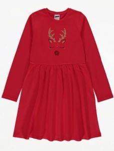Трикотажне святкове плаття для дівчинки від George