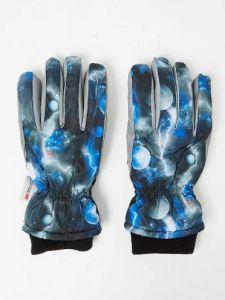 Теплі рукавиці з космічним принтом