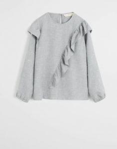 Блуза з воланами і металізованою ниткою