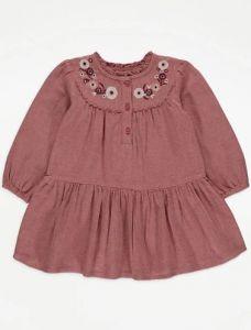 Хлопковое платье с вышивкой для девочки