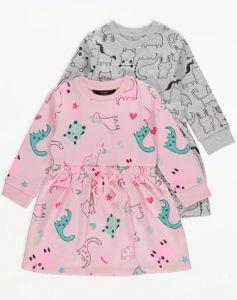 Трикотажное платье с флисовой байкой - 1 шт.(розовое)