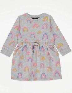Трикотажное платье с флисовой байкой внутри