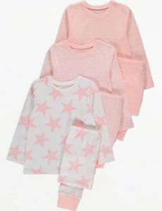 Піжама для дівчинки 1 шт. (персикова із зірочками)