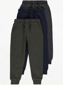 Спортивні штани з флісовою байкою всередині 1 шт. (темно-сині)