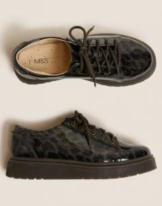 Cтильні туфлі з шнурівкою для дівчинки