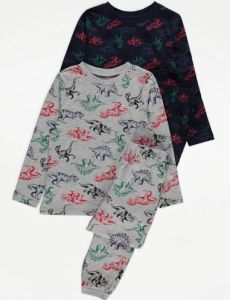 Трикотажна піжама для дитини 1шт. (темно-синя з принтом)