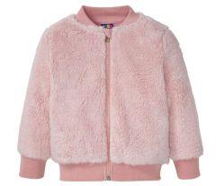 Плюшева куртка-бомбер для дівчинки