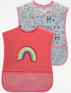 Набір великих слинявчиків з кишенею (2шт.) для малюка