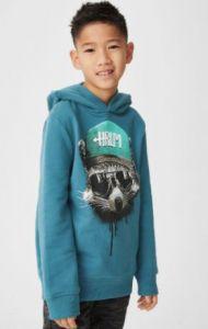 Худи с флисовой байкой из органичных материалов для мальчика
