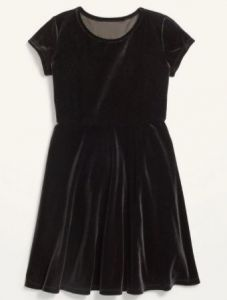 Велюрова сукня для дівчинки