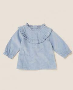 Блуза з текстурного трикотажу для дівчинки