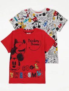 """Футболка """"Disney Mickey Mouse"""" (1 шт. біла з принтом) для хлопчика"""