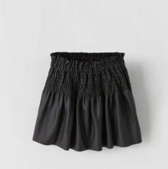Спідничка з буфами з еко-шкіри для дівчинки від Zara