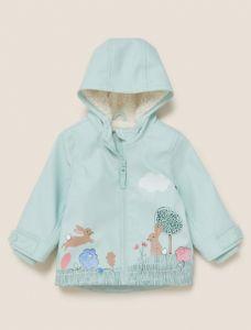 Куртка-дощовик з підкладкою з шерпи для дівчинки