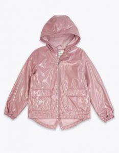 Лакова куртка-дощовик з трикотажною підкладкою для дівчинки