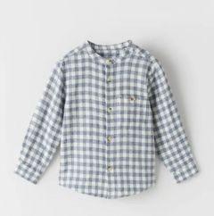Фланелева сорочка з принтом віші для хлопчика