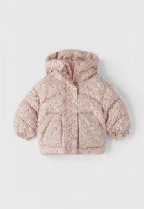 Тепла куртка в квітковий принт для дівчинки від Zara