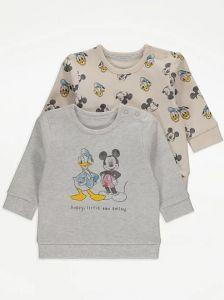 """Світшот з байкою всередині """"Mickey Mouse and Donald Duck"""" 1 шт. (бежевий)"""