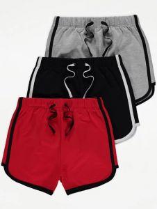 Трикотажні шорти з легкою флісовою байкою  для дитини 1 шт. (червоні)