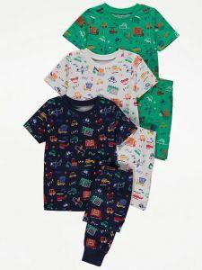 Трикотажна піжама для хлопчика 1шт. (синя футболка і штани)