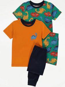Піжама для хлопчика 1шт. (помаранчева футболка і сині штани)