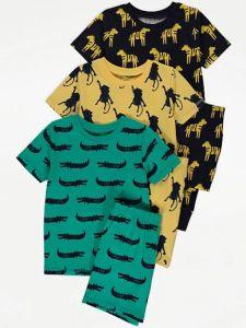Піжама для хлопчика 1шт. (зелена з шортиками)
