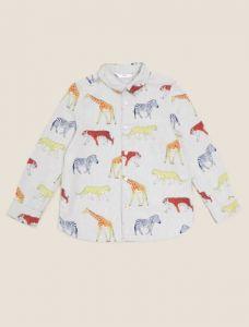 Коттонова сорочка з принтом для хлопчика