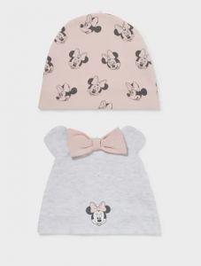 """Набір трикотажних шапочок """"Minnie Mouse""""для дівчинки 2шт."""